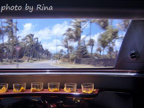 リムジンとハワイの景色